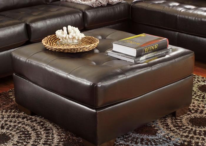 Alliston Chocolate Ottoman,ASHUM