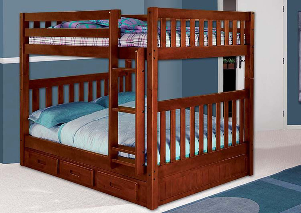 Merlot Full Over Full Bunk Bed,DWFUM