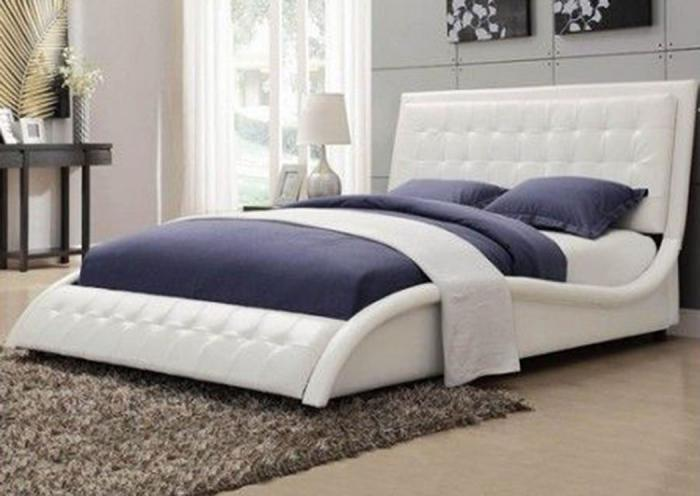 Tuffy White Queen Bed,COAUM