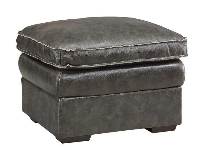 Regalvale Charcoal Leather Ottoman,COAUM