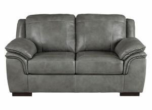 Islebrook Iron Leather Loveseat