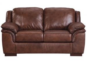 Islebrook Canyon Leather Loveseat,ASHUM