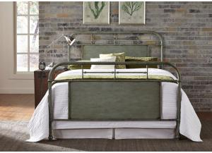 Vintage Metal Green King Bed