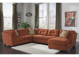 Delta City Rust Sectional