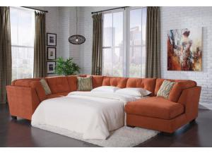 Delta City Rust Sleeper Sectional