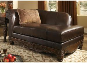 North Shore Leather Chaise