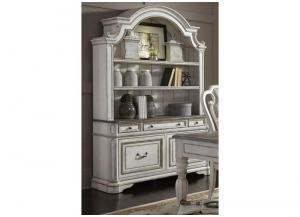 Magnolia Manor Office Credenza and Hutch,LIBUM