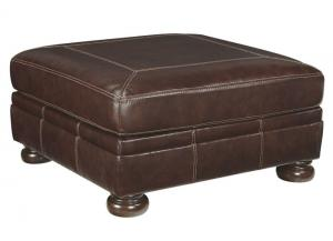 Banner Coffee Leather Cocktail Ottoman,ASHUM