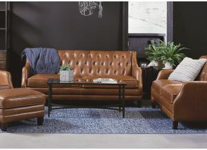 Magnolia Home Gentry Leather Sofa and Love seat