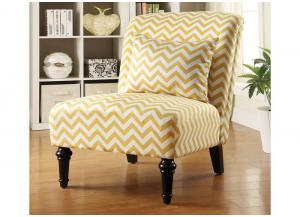 Yellow Chevron Accent Chair