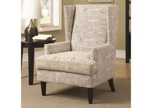 Newspaper Accent Chair